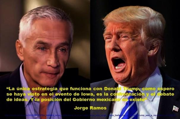 Jorge Ramos, Trump, México, Mexicanos, Hipanos, Latinos, Migración, Migrantes, Inmigración, Inmigrantes, Estadso Unidos, USA, EEUU, Imagología, Paisología