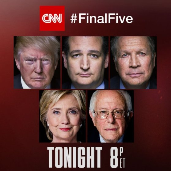 debate, cnn, trump, cruz, kasich, sanders