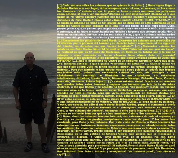 FERNANDO ANTONIO RUANO FAXAS. CUBA, CUBANOS, FIDEL CASTRO, RAÚL, OBAMA, BLOQUEO, EMBARGO, INTERNET, DERECHOS HUMANOS, ELECCIONES, DICTADURA, TIRANÍA, MARCO RUBIO, TED CRUZ, ROBERT BOB MENENDEZ, ILEANA ROS-LEHTINE