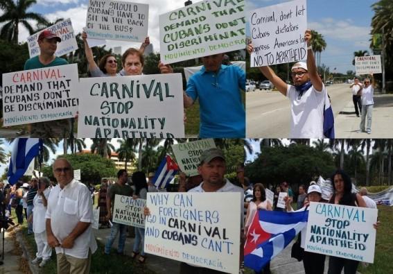 CUBA, CUBANOS, PROTESTA, MANIFESTACIÓN, CRUCERO, CRUCEROS, CARNIVAL, CASTRO, DICTADURA, TIRANÍA, APARTHEID, SEGREGACIÓN, DISCRIMINACIÓN, RACISMO, REMESAS, BLOQUEO, EMBARGO