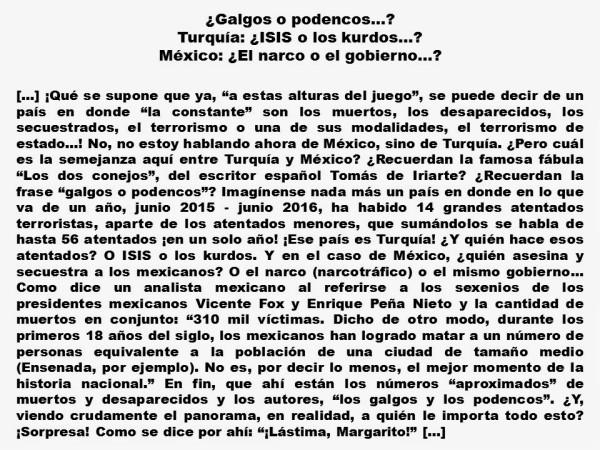 FERNANDO ANTONIO RUANO FAXAS. IMAGOLOGÍA, PAISOLOGÍA, TERRORISMO, MUERTOS, DESAPARECIDOS, TURQUÍA, ISIS, KURDOS, MÉXICO, GOBIERNO, NARCO, NARCOTRAFICO, ELECCIONES, POLITICOS
