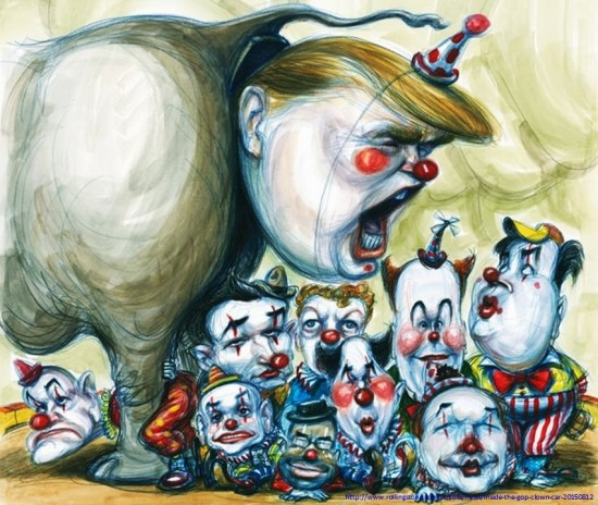 donald-trump-clown-gop-the-republican-circus-election-elections-2016