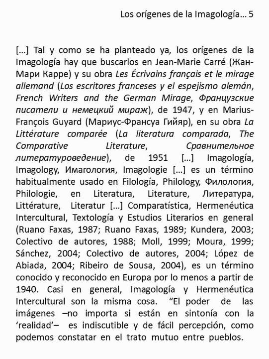 FERNANDO ANTONIO RUANO FAXAS. IMAGOLOGÍA, IMAGOLOGY, ИМАГОЛОГИЯ, IMAGOLOGIE. FILOLOGÍA, PHILOLOGY, ФИЛОЛОГИЯ, PHILOLOGIE. LITERATURA, LITERATURE, ЛИТЕРАТУРА, LITTÉRATURE, LITERATUR. TRADUCCIÓN, TRANSLATION 5