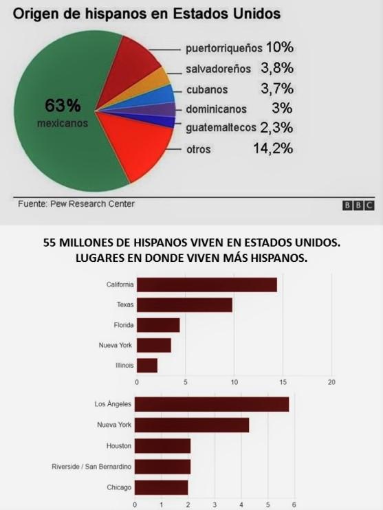 LATINOS. 55 MILLONES DE HISPANOS VIVEN EN ESTADOS UNIDOS. ELECCIONES, VOTO, HILLARY CLINTON, DONALD TRUMP. MÉXICO, MEXICANOS, ABSTENCIONISMO, VALEMADRISMO, IMPORTAMADRISMO, APATÍA, INDIFERENCIA