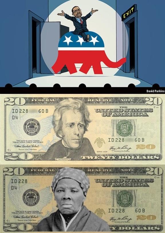 Ben Carson, Harriet Tubman, Andrew Jackson