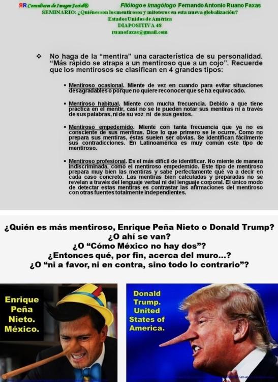 FERNANDO ANTONIO RUANO FAXAS. IMAGOLOGÍA, PAISOLOGÍA, MÉXICO, MEXICANOS, ELECCIONES. CLCINTON. QUIEN ES MÁS MENTIROSO, PEÑA NIETO O TRUMP.