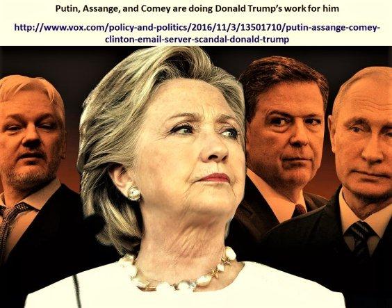 hillary-clinton-james-comey-vladimir-putin-julian-assange-fbi-cia-election-elecciones-trump-obama