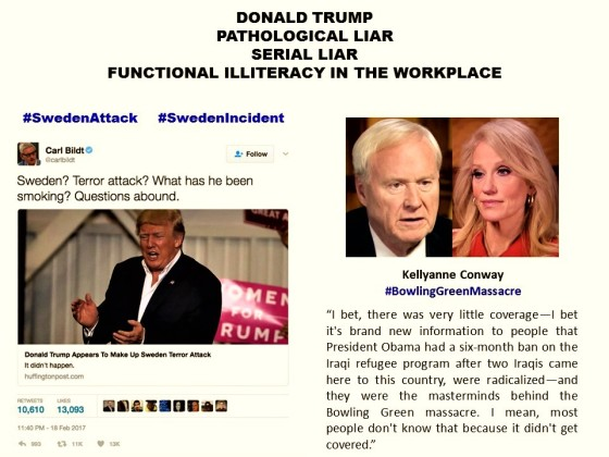 donald-trumppathological-liarserial-liarfunctional-illiteracy-in-the-workplacesweden-attackincident-kellyanne-conwaybowling-green-massacre-terrorismterrorismo