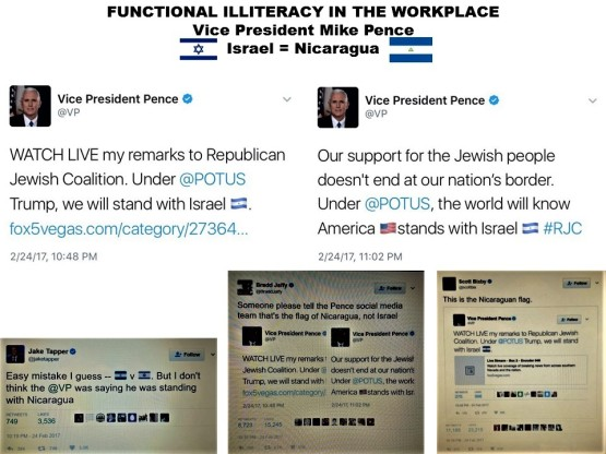 fernando-antonio-ruano-faxas-imagologia-vice-president-mike-pence-functional-illiteracy-in-the-workplace-twitter-flag-bandera-israel-nicaragua-jake-tapper-bradd-jaffy-scott-bixby