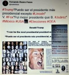 IMAGOLOGÍA.TRUMP,I CAN BE THE MOST PRESIDENTIAL PRESIDENT EXCEPT LINCOLN,PUEDO SER EL PRESIDENTE MÁS PRESIDENCIAL EXCEPTO LINCOLN.VICENTE FOX,I WAS A BETTER PRESIDENT THAN BENITOJUÁR